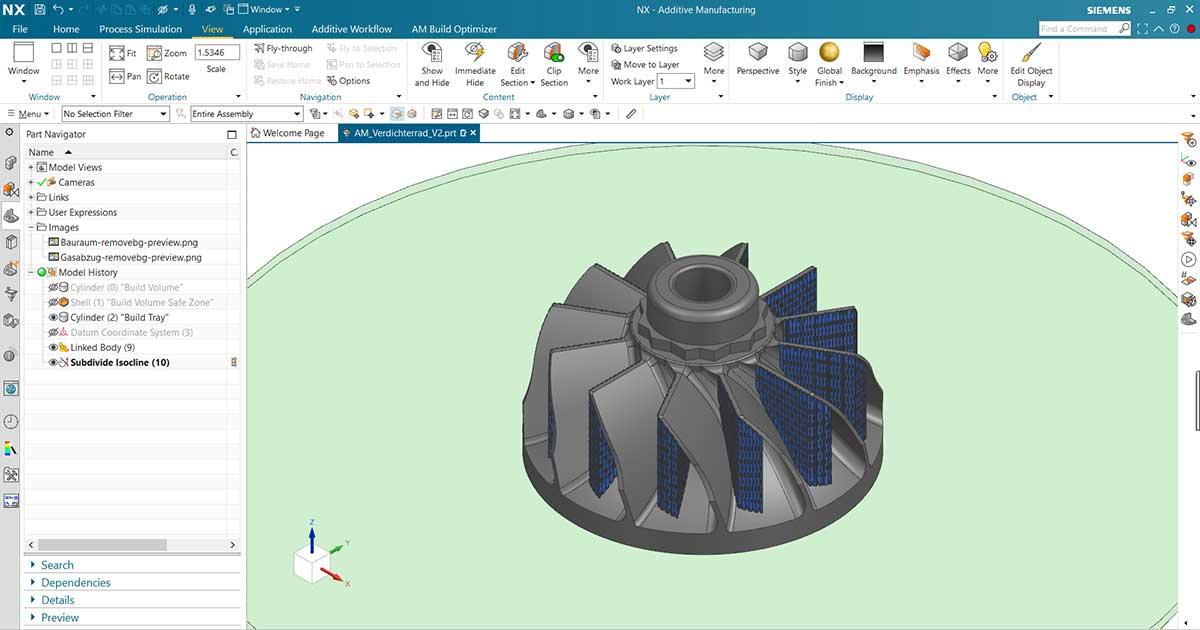 Siemens NX: Ihre End-to-End Lösung für die additive Fertigung